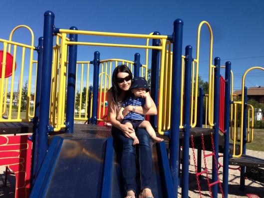 Henry on slide