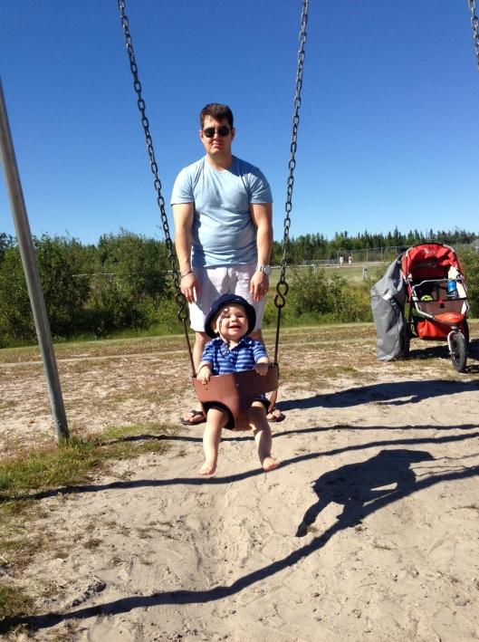 Henry on swing 2